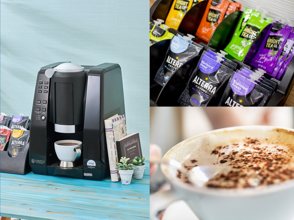 オフィスコーヒーに最適なマースドリンクス・アロマのコーヒーマシン